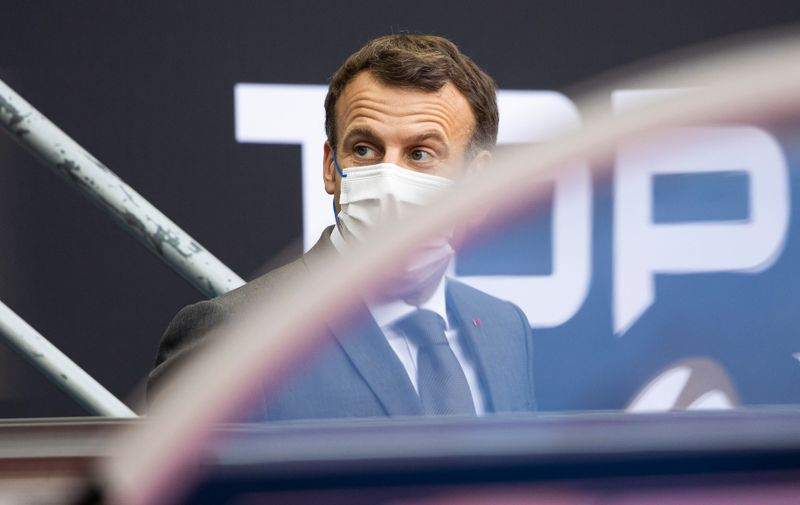 June 25, 2021, Paris, France, France: French President Emmanuel Macron is seen in the stands before the final match of the rugby French championship Top 14 between La Rochelle and Toulouse at the Stade de France.,Image: 617999661, License: Rights-managed, Restrictions: * Belgium, Denmark, France and Germany Out *, Model Release: no, Credit line: Profimedia