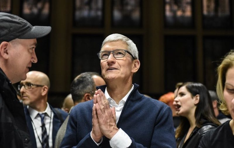 NEW YORK, NY - OCTOBER 30: Tim Cook, CEO of Apple speaks while unveiling new products during a launch event at the Brooklyn Academy of Music on October 30, 2018 in New York City. Apple debuted a new MacBook Air, Mac Mini and iPad Pro.   Stephanie Keith/Getty Images/AFP