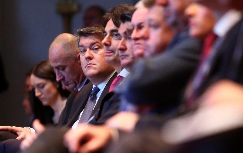 13.10.2015., Zagreb - U hotelu Sheraton odrzana 14. HBOR-a medjunarodna konferencija o poticanju izvoza. Ministar financija Boris Lalovac.  Photo: Slavko Midzor/PIXSELL