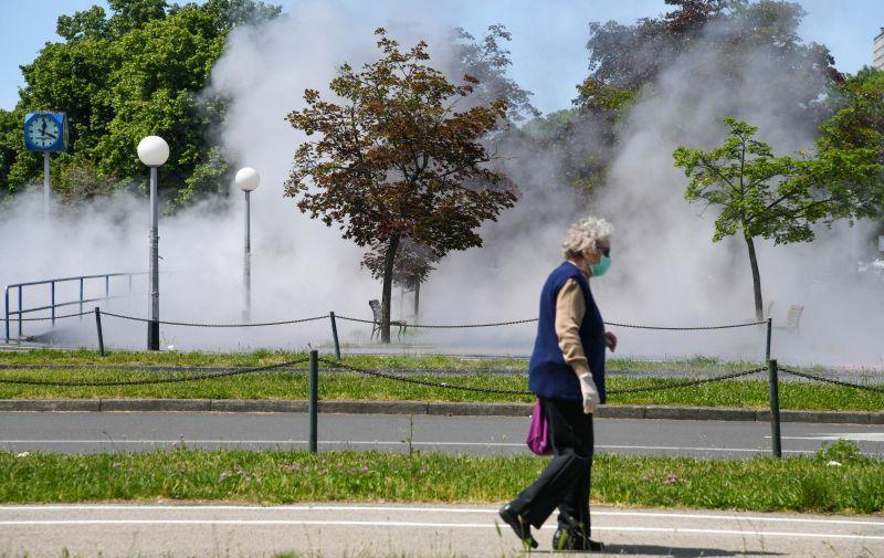08.05.2020., Zagreb - Na Aveniji Dubrovnik kod Utrina pukao vrelovod. Photo: Josip Regovic/PIXSELL