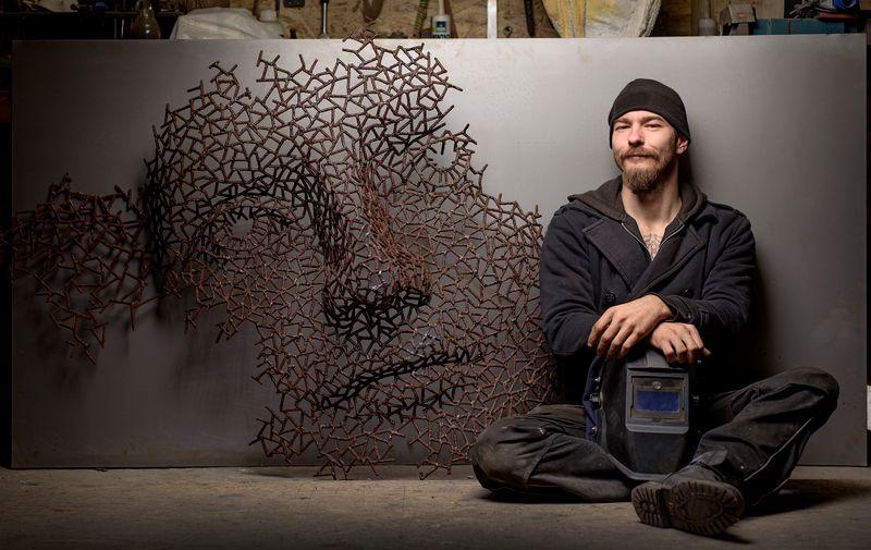 Nikola Vudrag u svom ateljeu