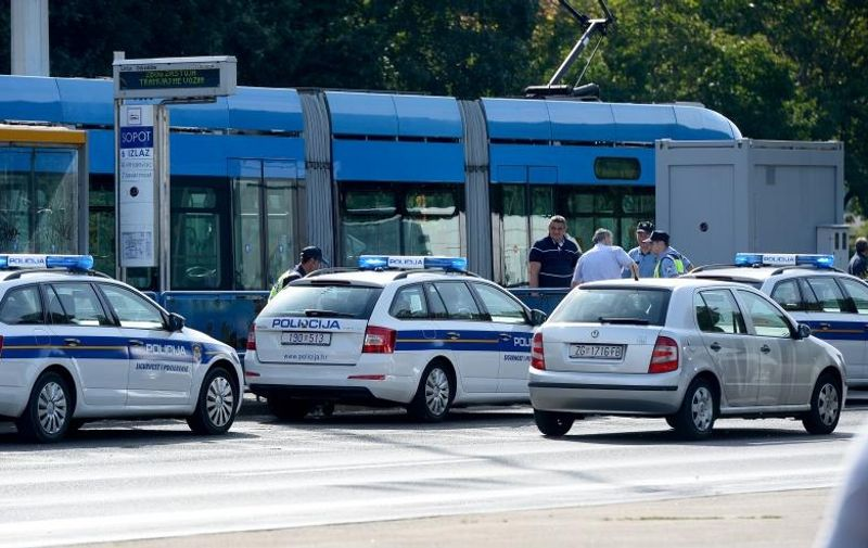 16.9.2015., Zagreb - Tramvaj usmrtio pjesaka na tramvajskom stajalistu Sopot na Aveniji Dubrovnik. Photo: Marko Prpic/PIXSELL