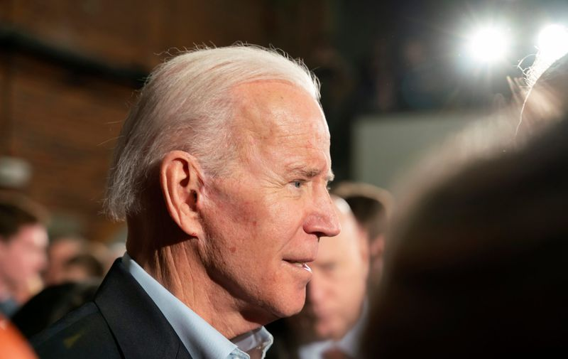 February 8, 2020, Manchester, New Hampshire USA. Democratic Presidential candidate Vice President Joe Biden at a campaign rally in Manchester, NH.,Image: 497287816, License: Rights-managed, Restrictions: , Model Release: no