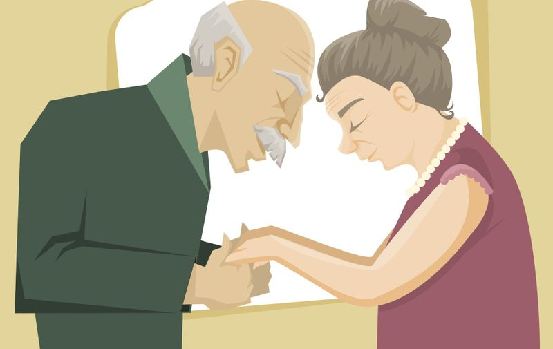 Happy senior couple hold each other hands, Image: 202456953, License: Royalty-free, Restrictions: , Model Release: no, Credit line: Profimedia, Stock Budget