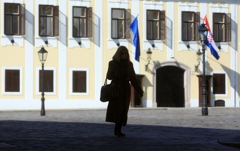 09.03.2011. Trg svetog Marka, Zagreb - Sunce je obasjalo i zgradu Vlade RH. Photo: Boris Scitar/PIXSELL