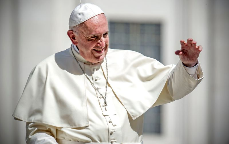 Pope Francis Pope Francis general audience, Vatican City, Rome - 25 Apr 2018, Image: 369738185, License: Rights-managed, Restrictions: , Model Release: no, Credit line: Pierpaolo Scavuzzo/AGF / Shutterstock Editorial / Profimedia
