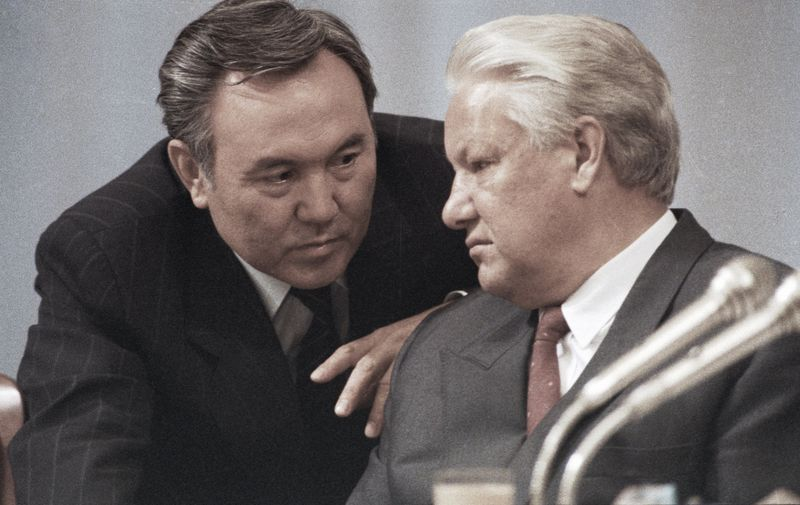 13847 14.09.1991 Kazakh President Nursultan Nazarbayev (left) and Russian President Boris Yeltsin (right) attending the fifth extraordinary Congress of People's Deputies of the USSR, Image: 420510258, License: Rights-managed, Restrictions: , Model Release: no, Credit line: Profimedia, Sputnik