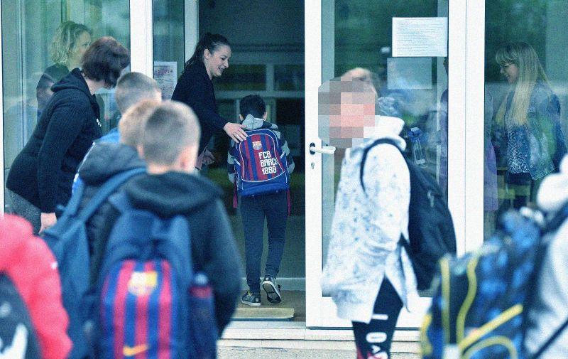 25.05.2020., Nedelisce- Uz posebne higijenske mjere, nizi razredi krenuli u skolu. Photo: Vjeran Zganec Rogulja/PIXSELL
