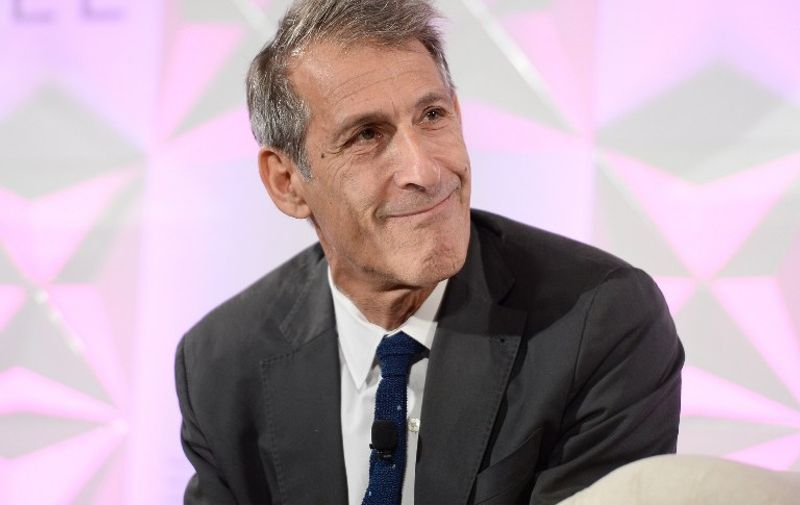 BEVERLY HILLS, CA - SEPTEMBER 27: Michael Lynton, CEO, Sony Entertainment, Inc., speaks during TheWrap's 7th Annual TheGrill at Montage Beverly Hills on September 27, 2016 in Beverly Hills, California.   Matt Winkelmeyer/Getty Images/AFP