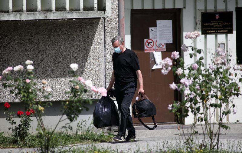 21.06.2021., Zagreb - Osjecki sudac Ante Kvesic, kojeg je Zdravko Mamic optuzio za korupciju, izlazi iz pritvora u Remetincu. Photo: Marin Tironi/PIXSELL