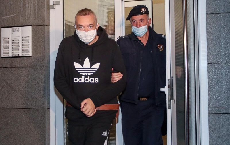 05.10.2020., Zagreb  - Policija dovela Dragana Kovacevica, bivseg sefa Janafa, na pretres nekretnine koju je koristio.   Photo: Igor Kralj/PIXSELL
