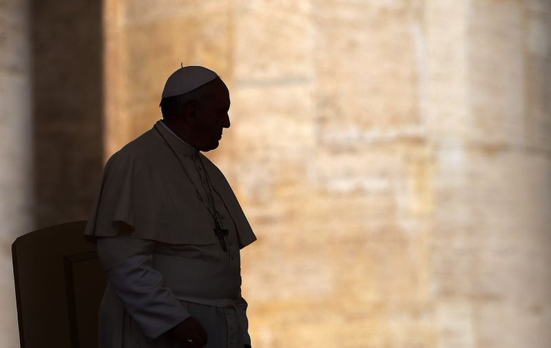 Pope Francis attends the weekly general audience at Saint Peter's square at the Vatican on May 21, 2014., Image: 350966356, License: Rights-managed, Restrictions: , Model Release: no, Credit line: Profimedia, AKG