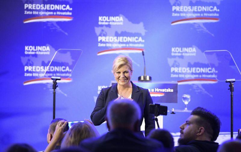 02.10.2019., Zagreb - Predsjednica Kolinda Grabar Kitarovic obratila se javnosti te je objavila svoju kandidaturu za predsjednicu Republike Hrvatske. Photo: Sandra Simunovic/PIXSELL