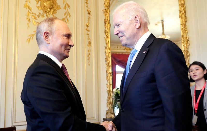 Russian President Vladimir Putin and U.S President Joe Biden hold their summit in Geneva at the first such meeting since 2018.,Image: 616068333, License: Rights-managed, Restrictions: , Model Release: no, Credit line: Profimedia