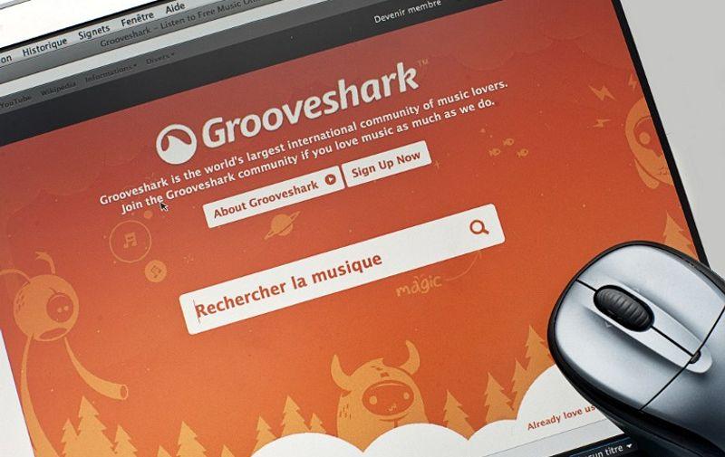 screen: grooveshark, music site