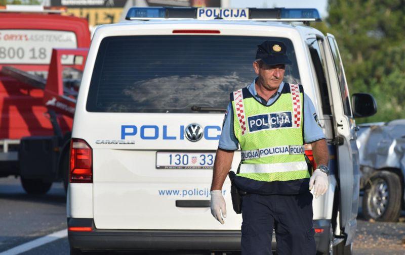 17.06.2018., Vodice - Jedna osoba je ozlijedjena u prometnoj nesreci koja se dogodila kod Vodica. Photo: Hrvoje Jelavic/PIXSELL