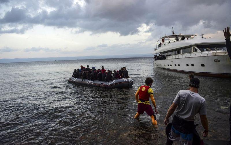 Dolazak migranata iz Turske na otok Lezbos u Grčkoj