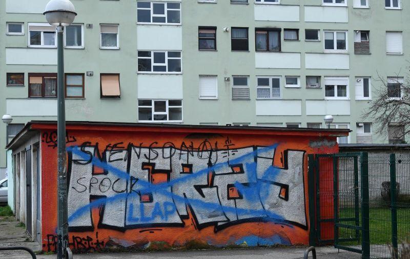 08.02.2021., Zagreb - 2015.g. na zidu garaze u blizini ekonomske skole osvanuo je grafit Mr. Spocka iz TV serije Zvjezdane staze, posvecen glumcu Leonardu Nimoyu, danas 2021. grafit Spocka je prebojan.  Photo: Marko Lukunic/PIXSELL