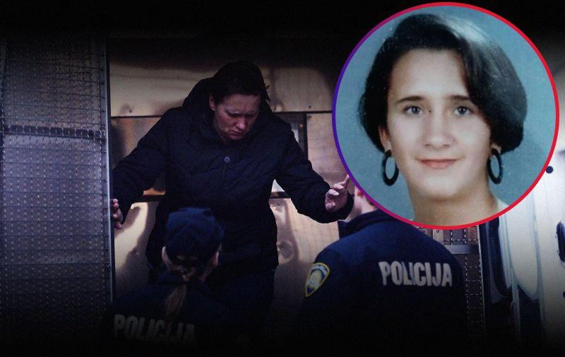 20.02.2019., Varazdin- Smiljana Srnec, osumnjicena za ubojstvo sestre Jasmine Dominic privedena sucu istrage. Photo: Vjeran Zganec Rogulja/PIXSELL