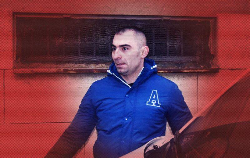 10.02.2019., Zadar -   Darko Kovacevic Daruvarac izlazi iz zadarskog pritvora. Photo: Dino Stanin/PIXSELL