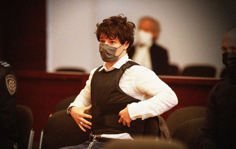 23.02.2021., Split - Na Zupanijskom sudu izrecena je presuda Filipu Zavladavu za trostruko ubojstvo. Photo: Ivo Cagalj/PIXSELL