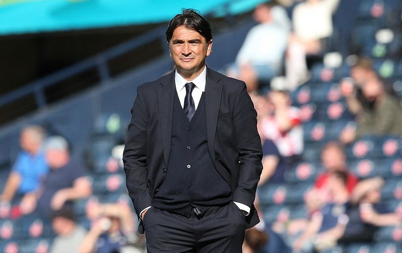 Croatia's coach Zlatko Dalic looks on during the UEFA EURO 2020 Group D football match between Croatia and Czech Republic at Hampden Park in Glasgow on June 18, 2021. (Photo by Robert Perry / POOL / AFP)