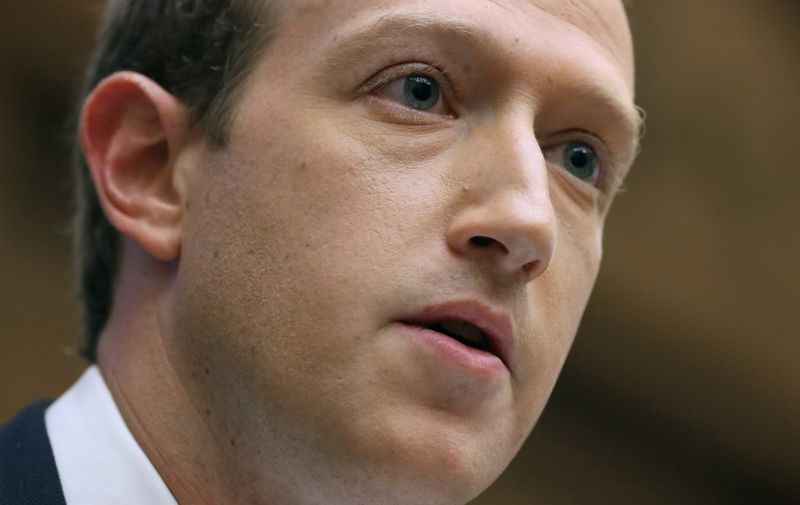 WASHINGTON, DC - OCTOBER 23: Facebook co-founder and CEO Mark Zuckerberg testifies before the House Financial Services Committee in the Rayburn House Office Building on Capitol Hill October 23, 2019 in Washington, DC. Zuckerberg testified about Facebook's proposed cryptocurrency Libra, how his company will handle false and misleading information by political leaders during the 2020 campaign and how it handles its users data and privacy.   Chip Somodevilla/Getty Images/AFP