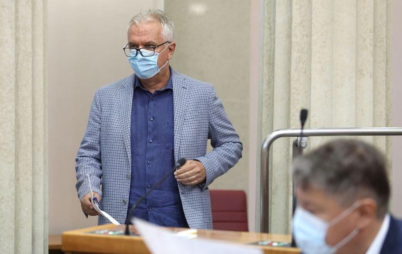 11.09.2020., Zagreb - U Saboru je pocelo glasovanje o amandmanima na zakon o obnovi Zagreba.  Photo: Patrik Macek/PIXSELL