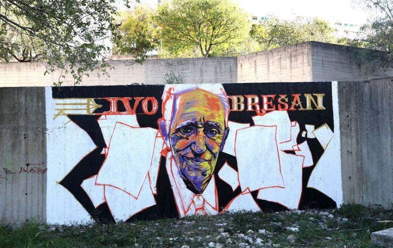 Mural je napravio šibenski grafičar i muralist Marko Svraka