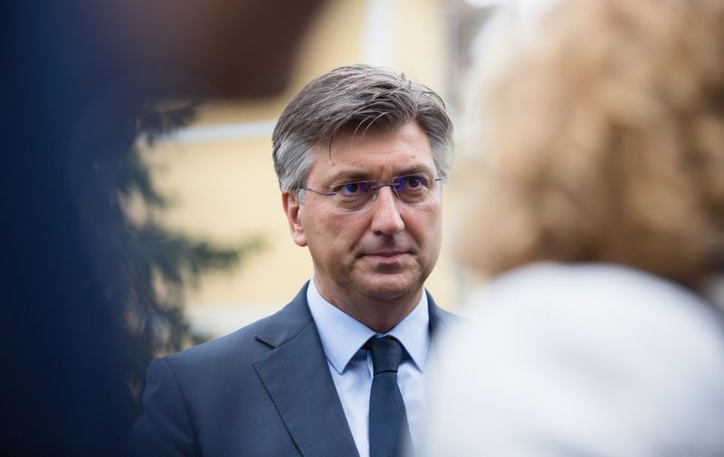 Croatian Prime Minister, Andrej Plenkovic seen at the press of 15th Bled Strategic Forum. European leaders met at the annual strategic forum in Bled to discuss Europe after Brexit and COVID-19 pandemic. The annual strategic forum in Bled, Slovenia - 31 Aug 2020,Image: 555624176, License: Rights-managed, Restrictions: , Model Release: no, Credit line: Profimedia