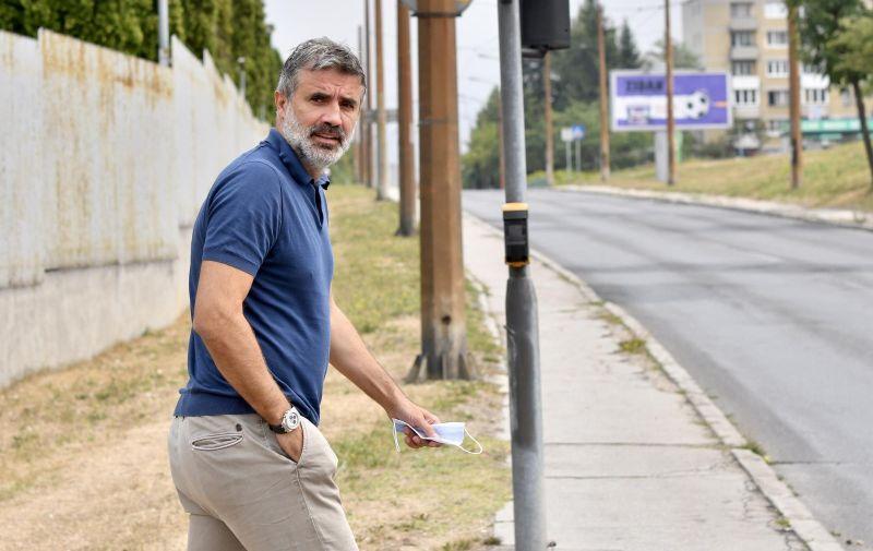 24.08.2021., Sarajevo, Bosna i Hercegovina - Zoran Mamic u pratnji odvjetnika Zdravka Rajica dolazi na sud. Photo: Stringer/PIXSELL