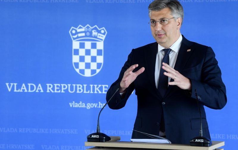 02.06.2021., Zagreb - Nakon sjednice vlade izjavu je dao premijer Andrej Plenkovic.  Photo: Marko Lukunic/PIXSELL