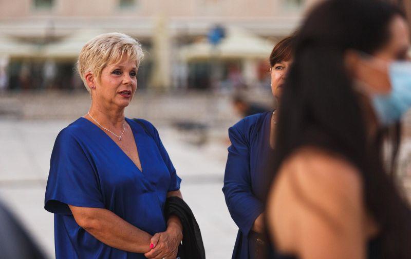 16.07.2020 Zadar Na zadarskom forumu svecano su otvorene 60. Glazbene vecer. Grozdana Peric Photo: Marko Dimic/PIXSELL