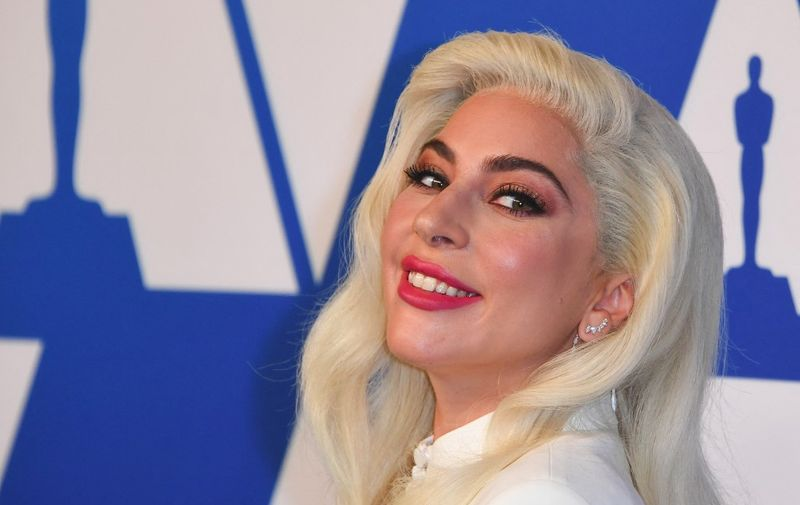 """(FILES) In this file photo taken on February 4, 2019 Lead Actress nominee for """"A Star is Born"""" and Original Song nominee for """"Shallow"""" from """"A Star is Born"""" singer/songwriter Lady Gaga arrives for the 91st Oscars Nominees Luncheon at the Beverly Hilton hotel in Beverly Hills. - Lady Gaga's two French bulldogs which were stolen at gunpoint in Hollywood have been safely returned, Los Angeles police said on February 26, 2021. (Photo by Mark RALSTON / AFP)"""