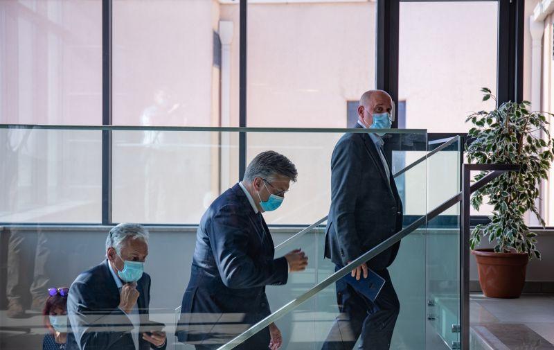 09.07.2021., Hotel Adria, Dubrovnik - Premijer Andrej Plenkovic dosao na sastanak s zupanijskim ogrankom HDZ-a. Photo: Grgo Jelavic/PIXSELL
