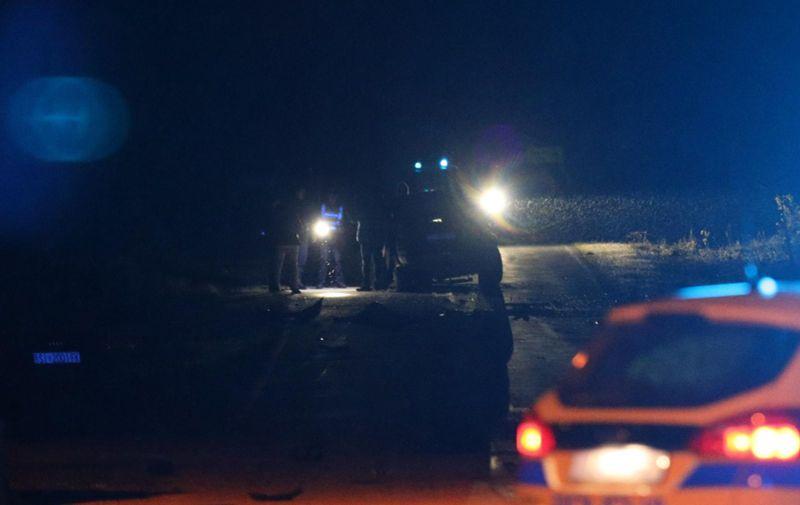 27.04.2021., Knin - Na zupanijskoj cesti Oklaj-Vrbnik dvije osobe su smrtno stradale u prometnoj nesreci u kojoj su sudjelovala dva osobna automobila. Photo: Dusko Jaramaz/PIXSELL