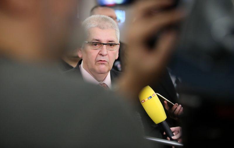02.12.2019., Zagreb - Kandidat na predsjednickim izborima 2019. Anto Djapic predao je potpise za predsjednicku kandidaturu Drzavnom izbornom povjerenstvu u Saboru. Photo: Borna Filic/PIXSELL