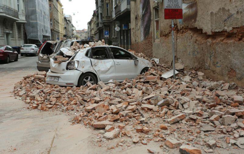 22.03.2020., Zagreb - Ostecenja u Zagreba nakon potresa jacine 5.3. po Richteru. Velika steta u Djordjicevoj ulici. Photo: Emica Elvedji/PIXSELL