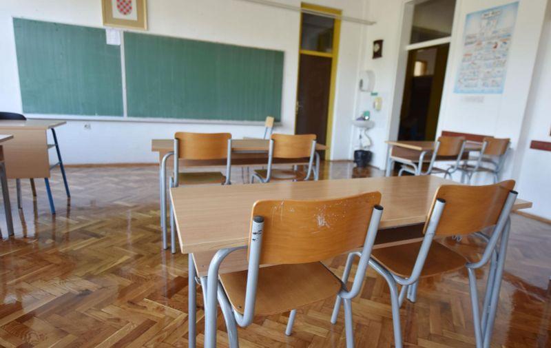Prazna učionica 31.08.2018., Primosten - Prazna ucionica.   Photo: Hrvoje Jelavic/PIXSELL