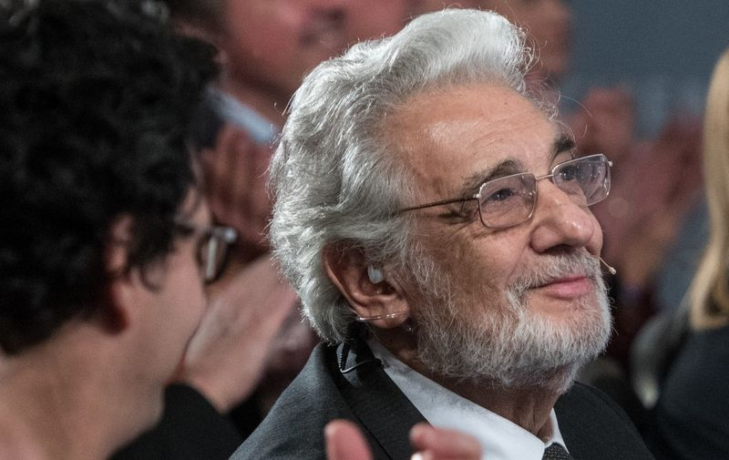 "Spanish Opera singer Placido Domingo attends the ""People in Europe Arts Awards"" ceremony in Passau, southern Germany on November 28, 2017. (Photo by Armin Weigel / dpa / AFP) / Germany OUT"