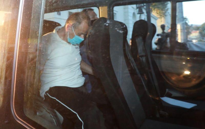 28.09.2021., Zagreb - Privodjenje ubojice Haralda Kopitza na ispitivanje u prostorije drzavnog odvjetnistva u Selskoj ulici. Photo: Zeljko Hladika/PIXSELL