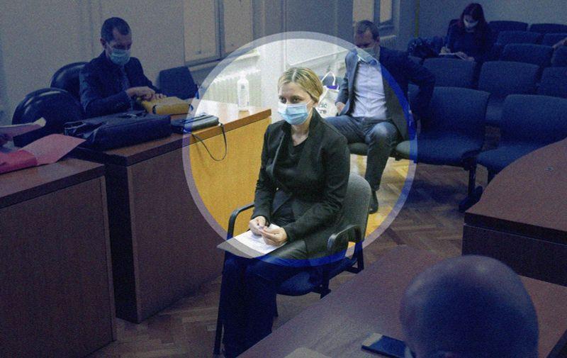 29.09.2020., Zagreb, Opcinskii kazneni sud - Sandra Zeljko iznjela obranu u predmetu Dnevnice.  Photo: Robert Anic/PIXSELL