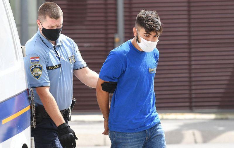 26.08.2021., Varazdin - Privodjenje jednog od osumnjicenih za ubojstvo Minke P. Photo: Vjeran Zganec Rogulja/PIXSELL