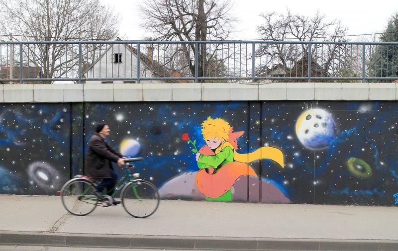 Mural u Čulinečkoj kojeg više nema