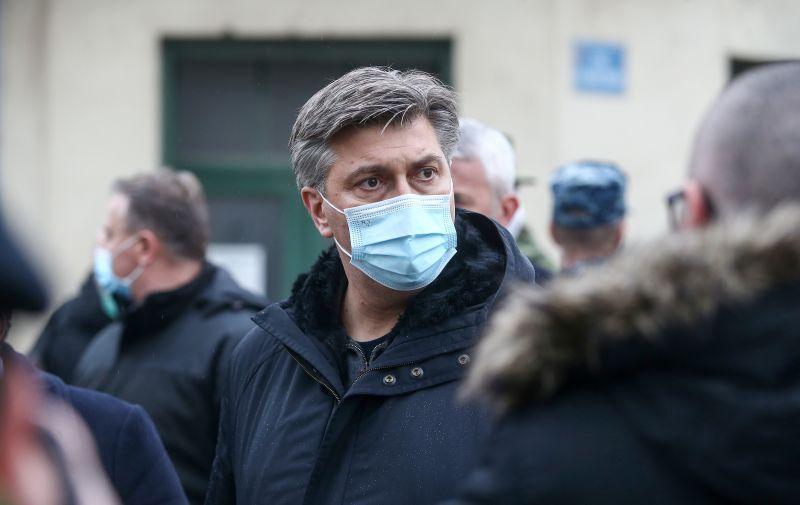 05.01.2021., Glina - Predsjednik Vlade Andrej Plenkovic obisao je Glinu. Photo: Matija Habljak/PIXSELL