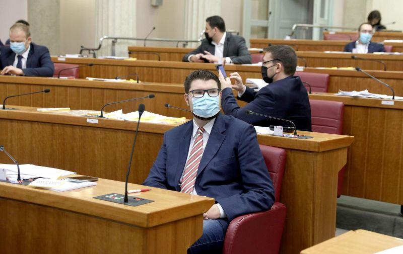 15.12.2020., Zagreb -Sabor je 4. sjednicu nastavio glasovanjem o raspravljenim tockama dnevnog reda. Photo: Patrik Macek/PIXSELL