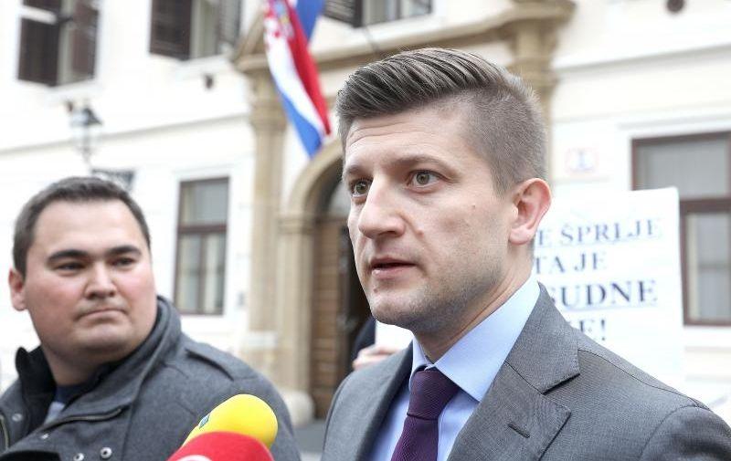 27.04.2017., Zagreb - Ministar financija Zdravko Maric, protiv kojega su tri MOST-ova ministra digla ruku te su stoga rarzijeseni, obratio se javosti. Photo: