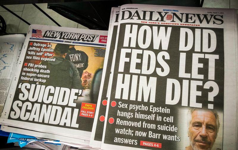 Naslovnice nakon Epsteinove smrti