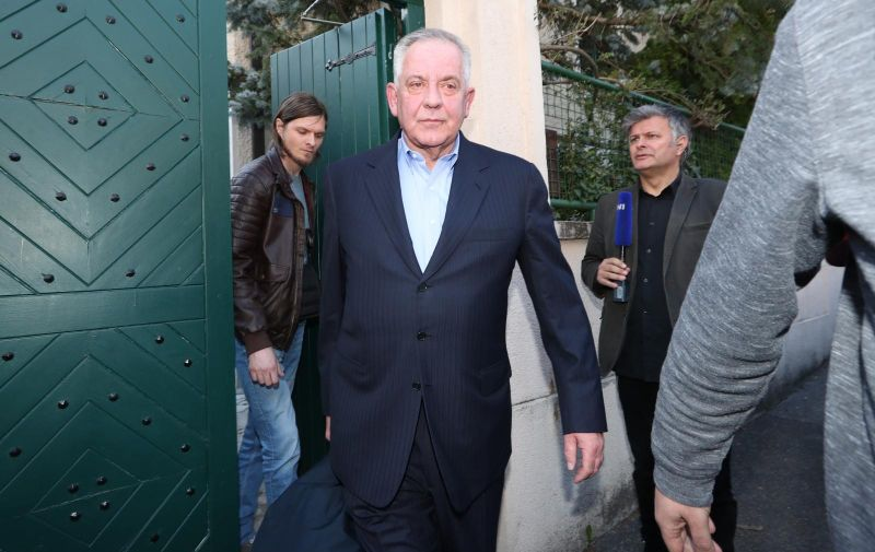 04.04.2019., Kozarceva, Zagreb - Ivo Sanader pravomocno je nakon razmatranja Vrhovnog suda osudjen na 6 godina zatvora u slucaju Planinska. Photo: Robert Anic/PIXSELL