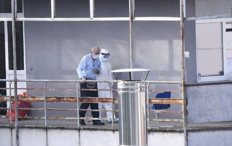 28.10.2020., Sisak - U Odjelu za infektivne bolesti sisacke bolnice lijece se oboljeli od COVID-19. Photo: Nikola Cutuk/PIXSELL